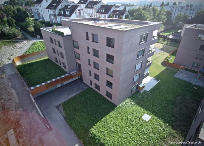 MFH Bachmättli Hochdorf – Eingangsbereich & Seitenansicht